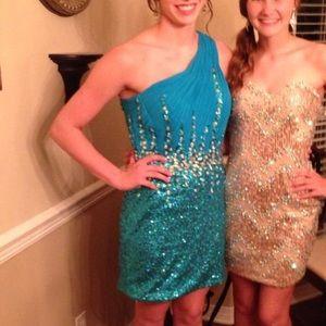 Blue Angela & Alison Homecoming Dress